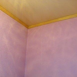 Стены и потолок туалета.