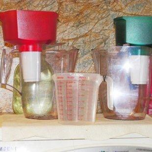 Вода фильтруется 2 раза.