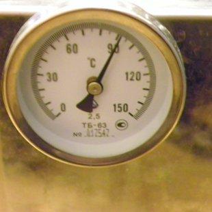 Контроль перегонки с помощью термометра.